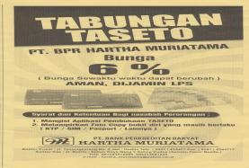 Tabungan Setara Deposito (Taseto)
